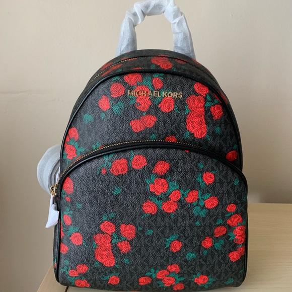 fd3dd9ed1402f3 Michael Kors Bags   Abbey Backpack Rose Print   Poshmark